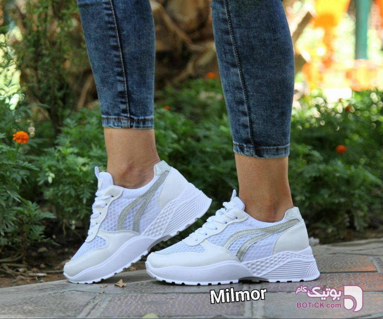 کفش اسپرت صورتی كفش زنانه