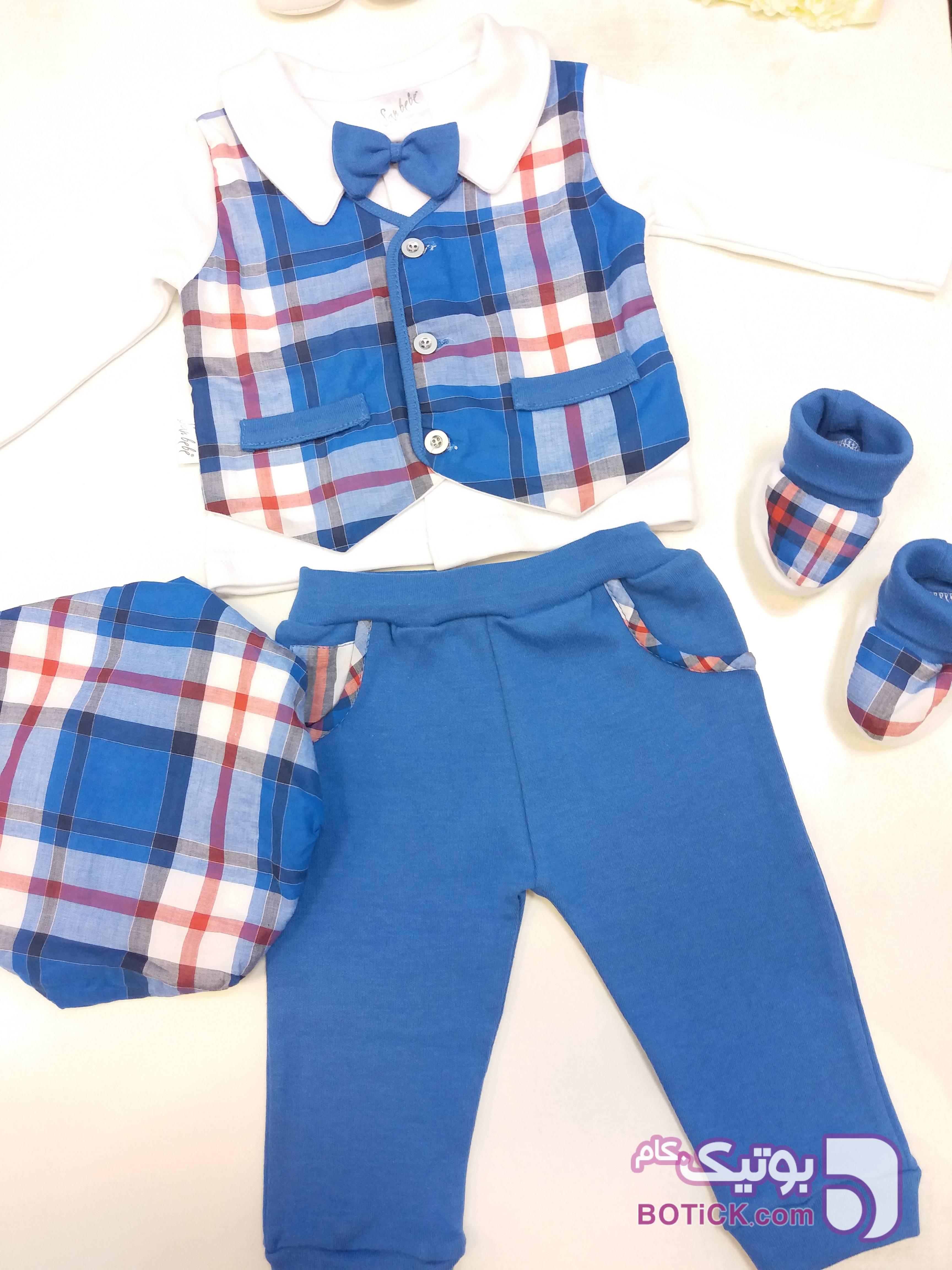 کد 12_2 آبی لباس کودک پسرانه