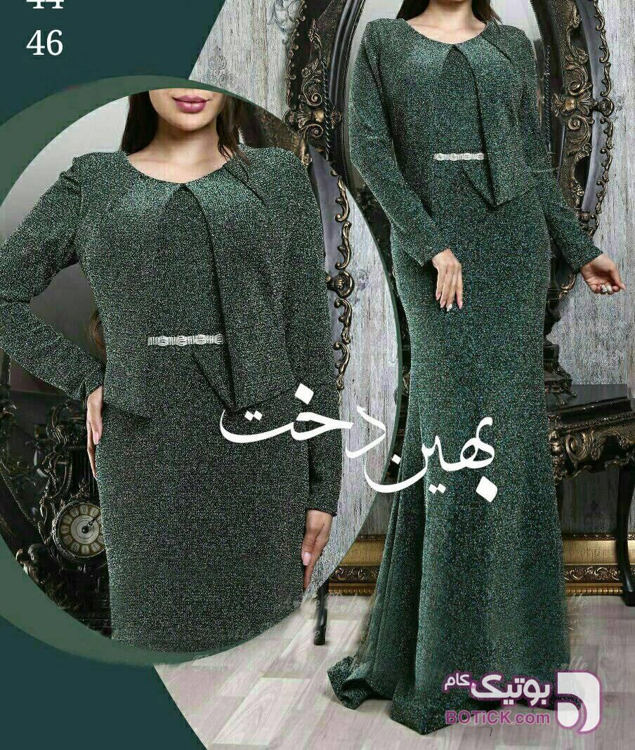 مدل هدی جنس لمه کشی اعلاء سبز لباس  مجلسی