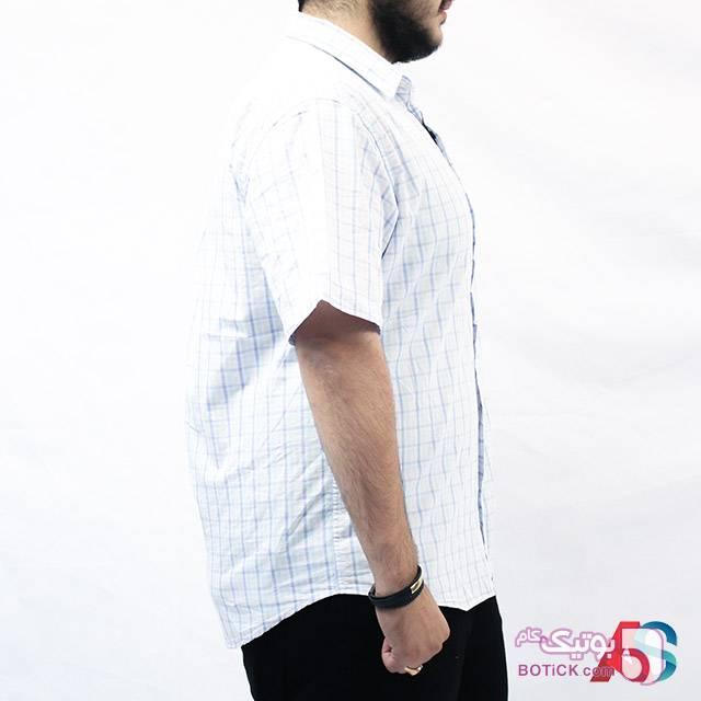 پیراهن آستین کوتاه کد محصول exb573a سفید سایز بزرگ مردانه