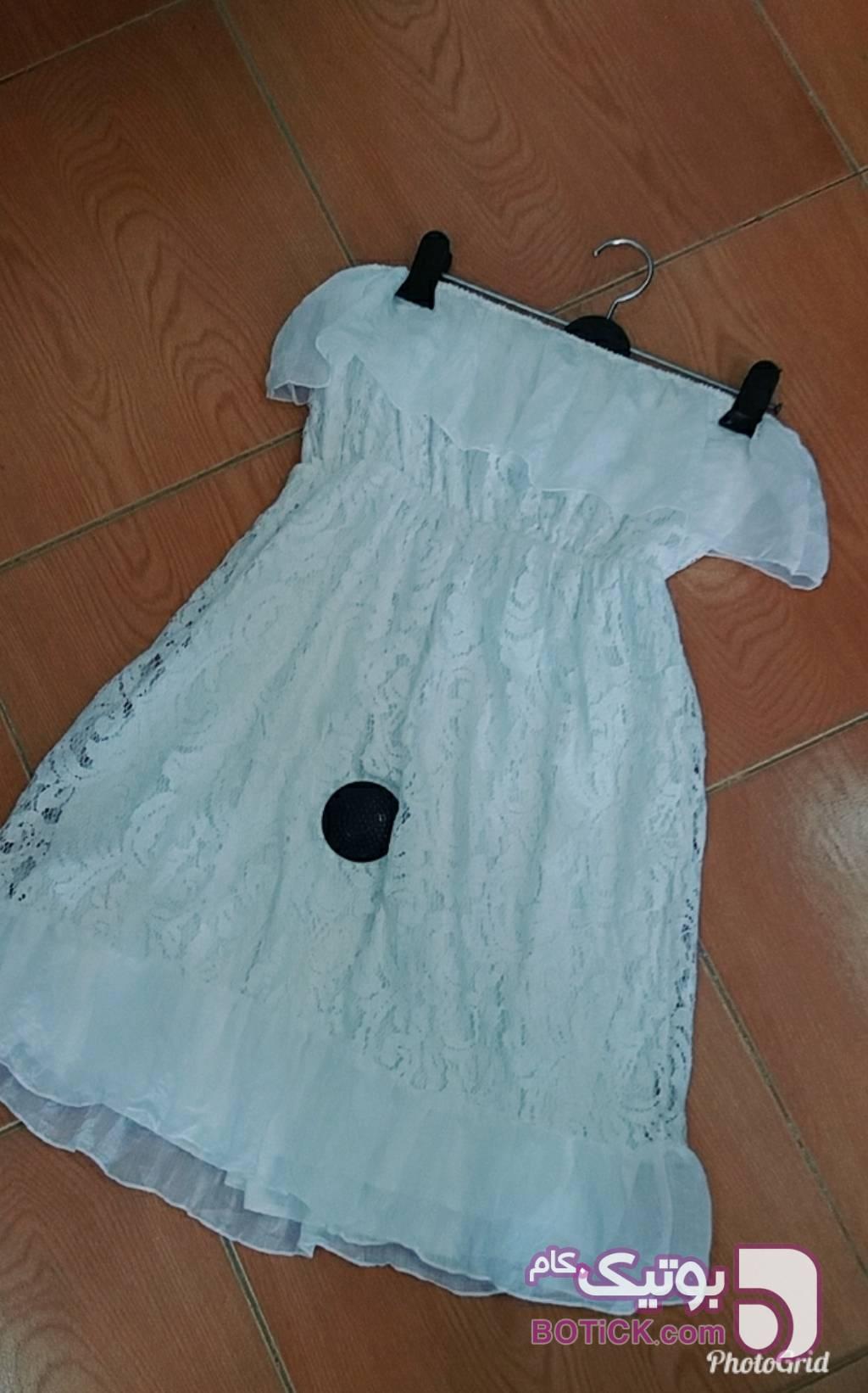 پیراهن دکلته دخترانه سفید پيراهن و سارافون زنانه