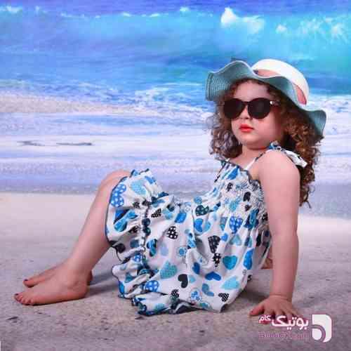 پیراهن ساحلی خنک و راحت قرمز لباس کودک دخترانه