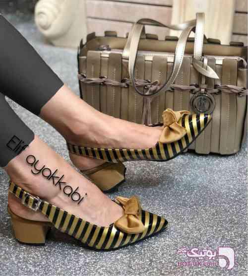 کفش ترک زرد كفش زنانه