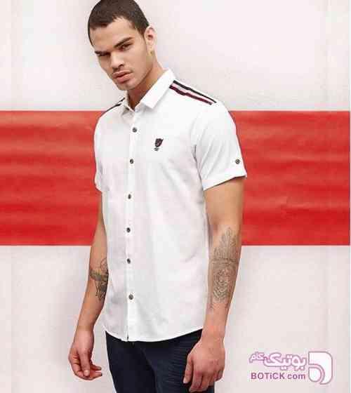 پیراهن اسپورت آستین کوتاه  سفید پيراهن مردانه