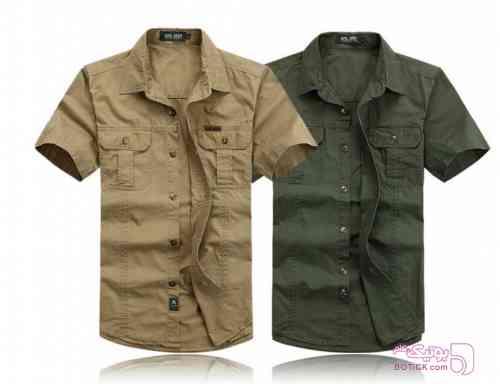 پیراهن کتان جیپ سبز پيراهن مردانه