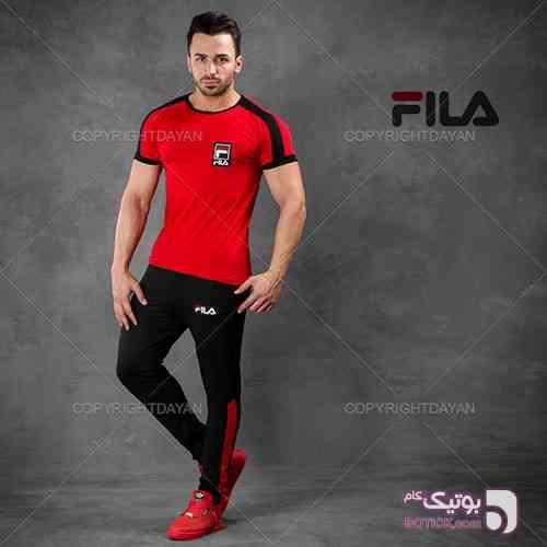 ست تیشرت و شلوار Fila مدل Bezersa مشکی ست ورزشی مردانه