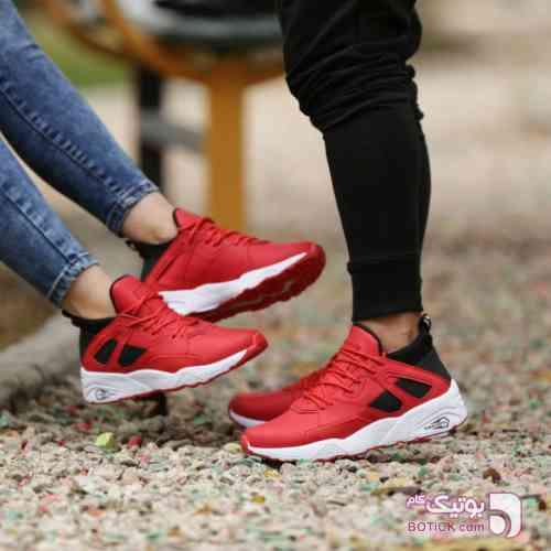 کفش اسپرت قرمز كتانی زنانه