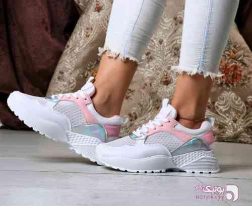 کفش اسپرت سفید كتانی زنانه