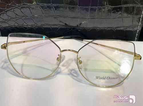 World owner طلایی عینک آفتابی
