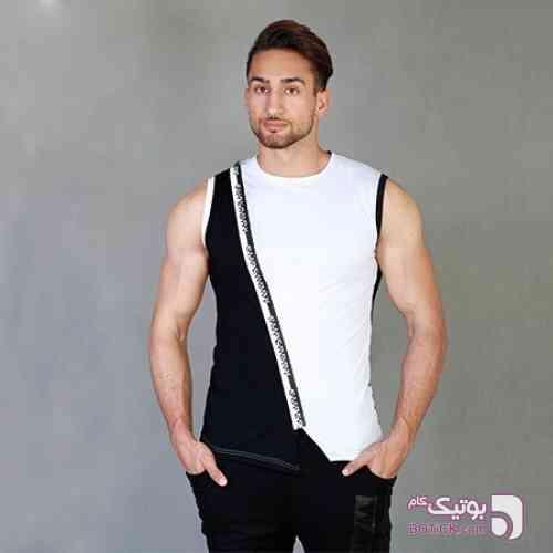 رکابی طرح SuperDRY مشکی لباس راحتی مردانه