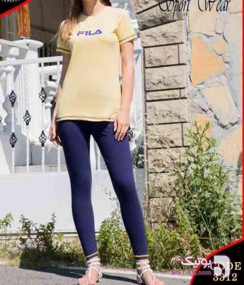 سِت بلوز شلوار فیلانیو  زرد لباس راحتی زنانه
