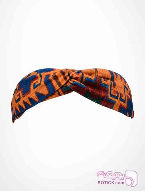 هدبند گره ای طرح آزتک سورمه ای شال و روسری