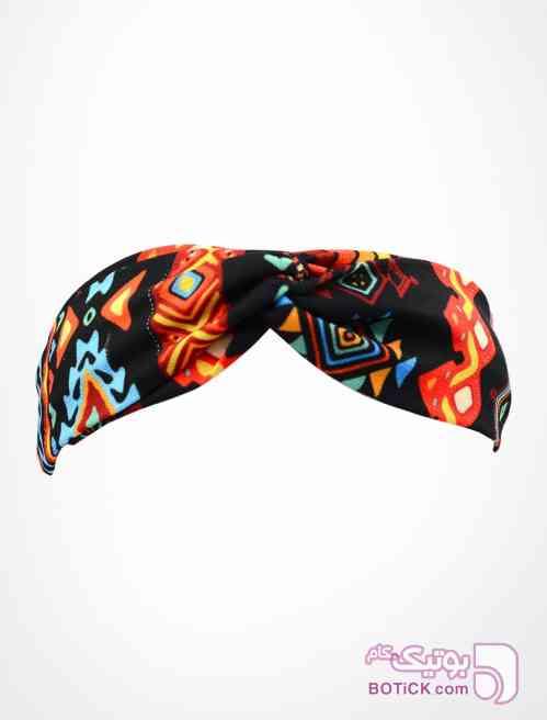 هدبند گره ای طرح ازتک مشکی شال و روسری
