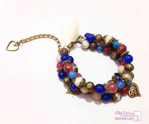 دستبند سنتي سنگ آبی دستبند و پابند