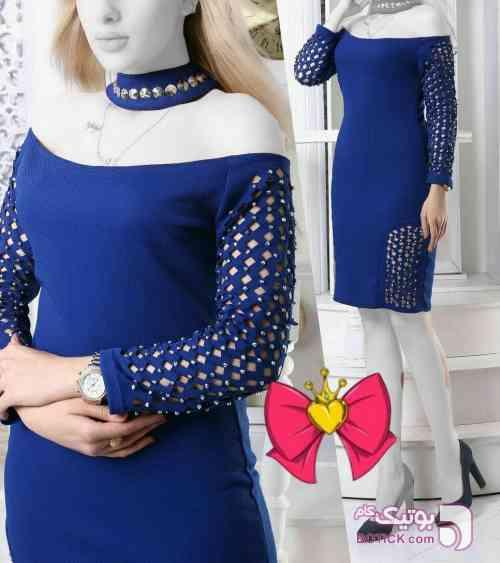 کد ۱۰۲ آبی لباس  مجلسی