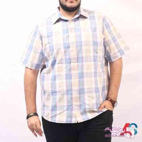 پیراهن آستین کوتاه کد محصول exb572a سفید سایز بزرگ مردانه