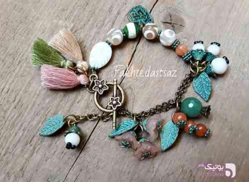 دستبند فیروزه ای دستبند و پابند
