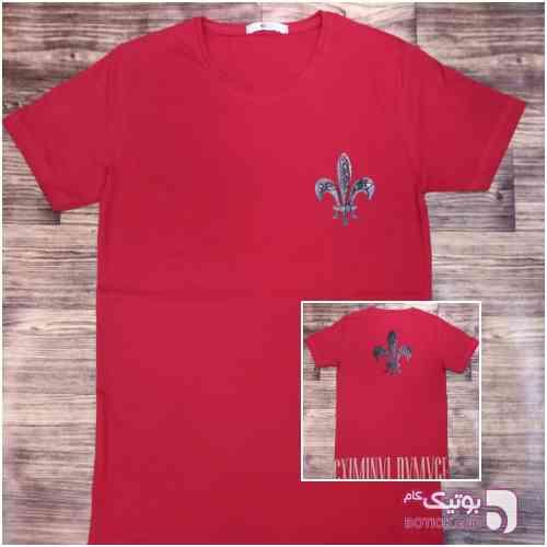 تیشرت لانگ قرمز تی شرت مردانه