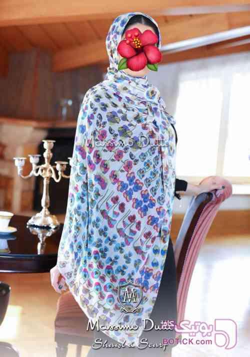 شال حریر VIP ماسیمودوتی سفید شال و روسری