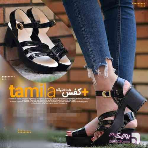 كفش دخترانه مدل TAMILA مشکی صندل زنانه