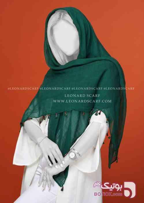 روسری منگوله دار سبز شال و روسری