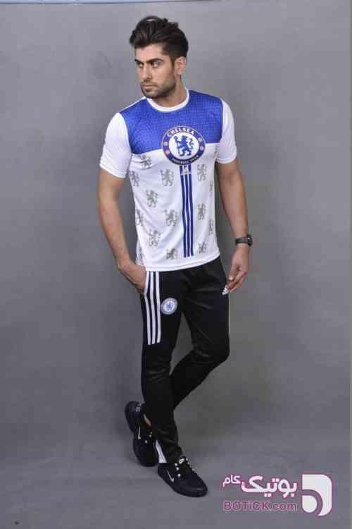 ست تیشرت شلوارCHELSEA آبی ست ورزشی مردانه
