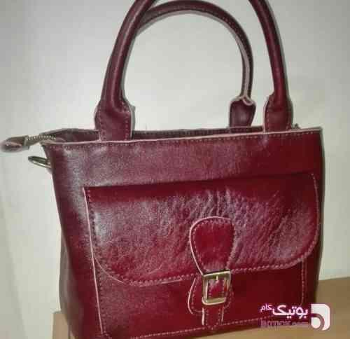 کیف دوشی زنانه زرشکی كيف زنانه