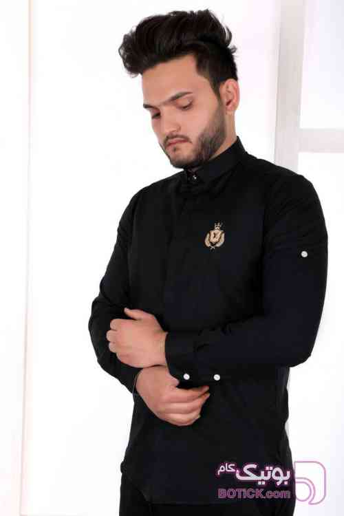 پیراهن مشکی مردانه مشکی پيراهن مردانه