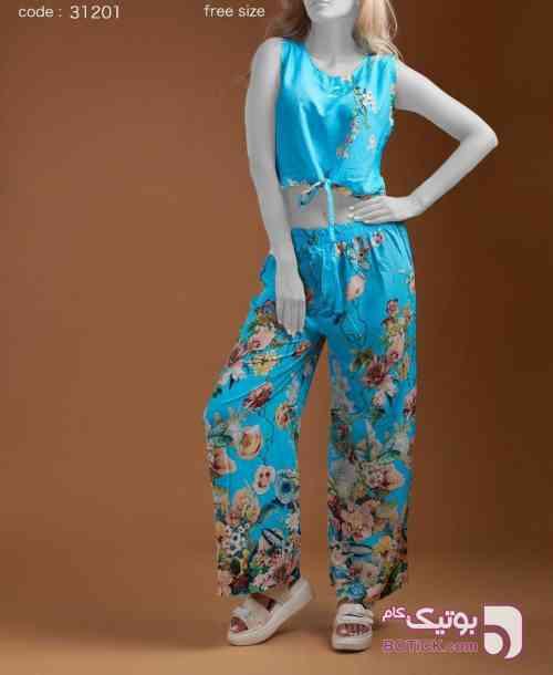 #ست پروچیستا (۲تیکه) فیروزه ای لباس راحتی زنانه