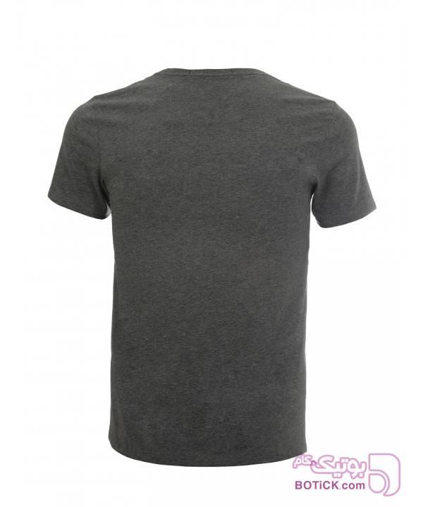 تی شرت مردانه آستین کوتاه ساموئل اند کوین طوسی تی شرتو پولو شرت مردانه
