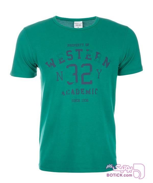 تیشرت مردانه ساموئل اند کوین S&K سبز تی شرت مردانه