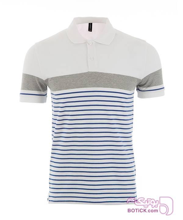 پولوشرت مردانه جین وست سفید تی شرت مردانه