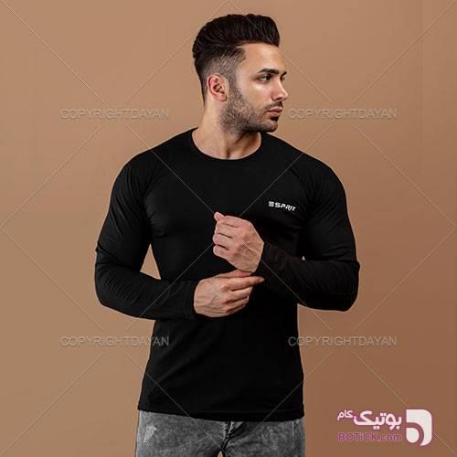 حراج تیشرت آستین بلند یقه گرد(ویژه محرم) مشکی تی شرت مردانه