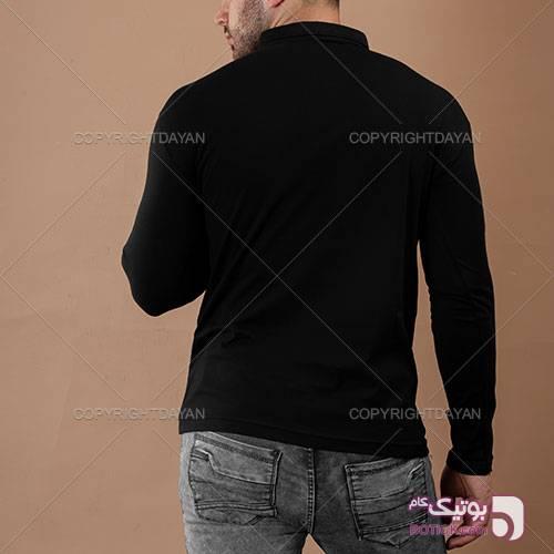 تیشرت ساده محرم یقه برگردان مشکی تی شرت مردانه