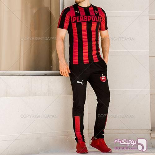 ست تیشرت شلوارAC Milan و کفش Paramata مشکی ست ورزشی مردانه