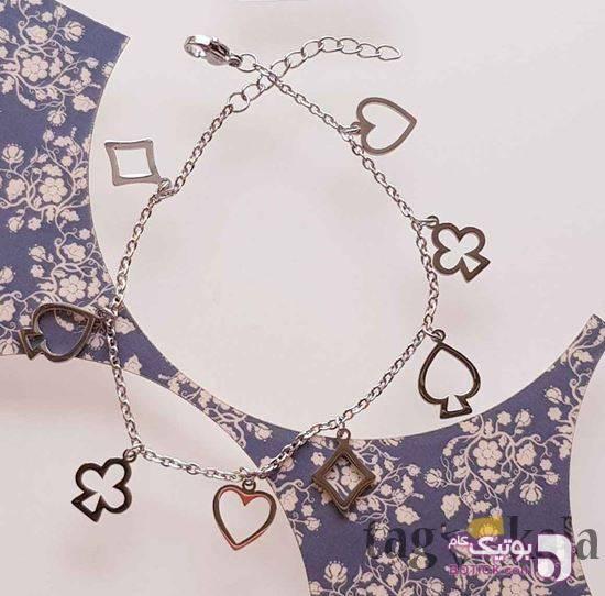 دستبند استیل مدل 50 نقره ای دستبند و پابند