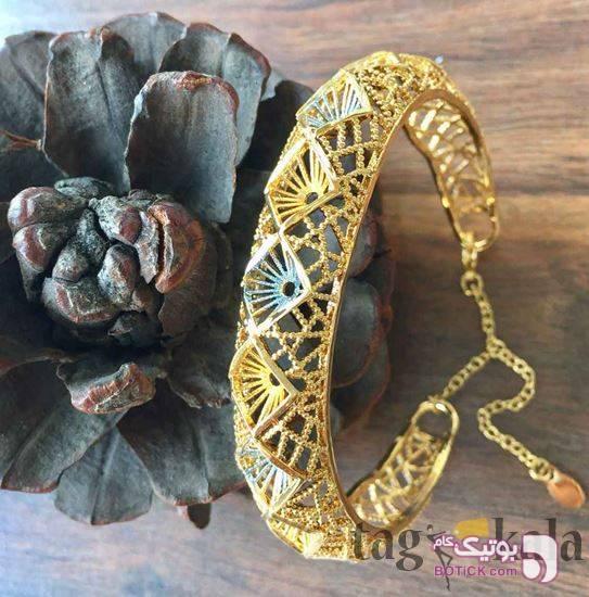 دستبند برنجی مدل النگو زرد دستبند و پابند