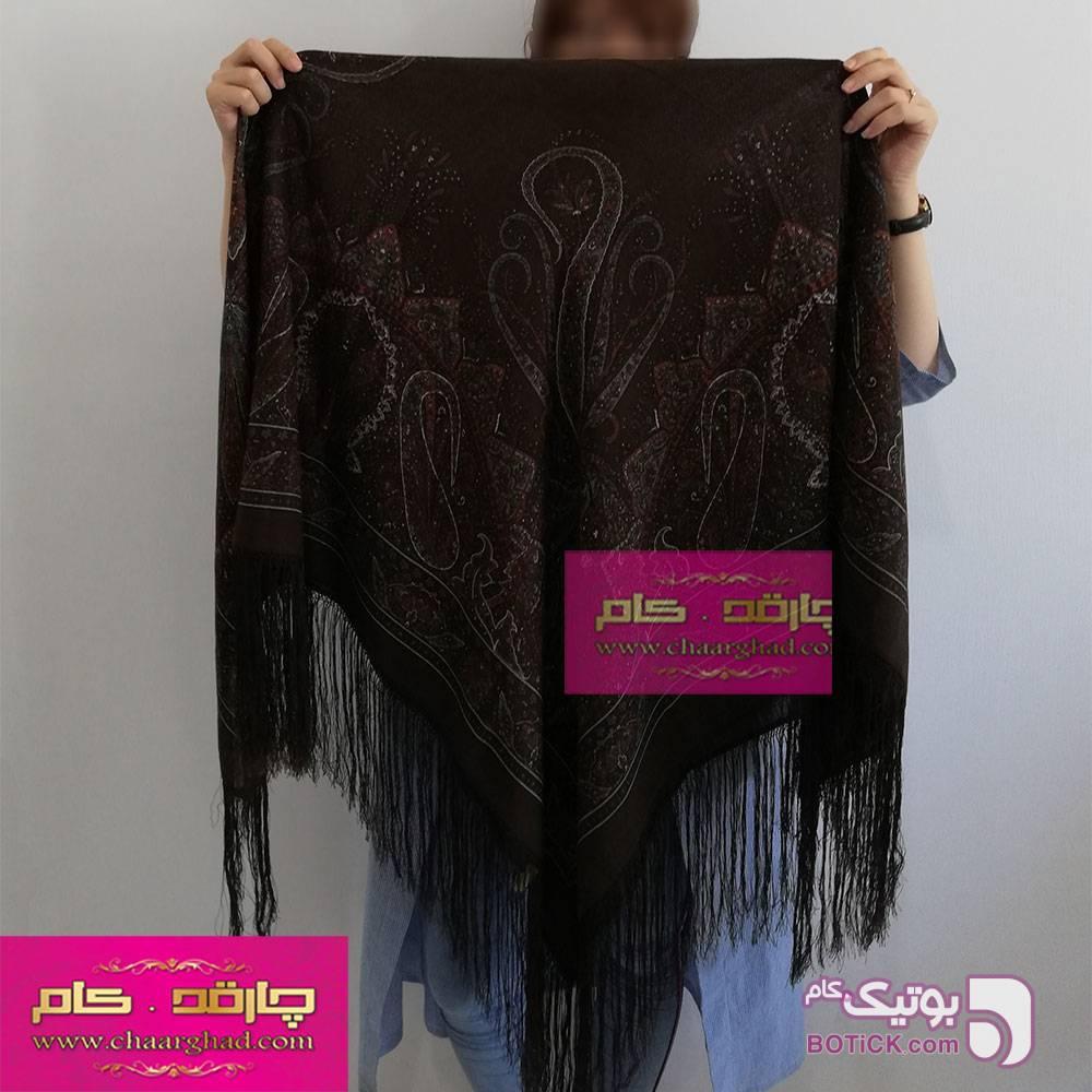 روسری ترکمنی طرح ایتالیایی طوسی شال و روسری