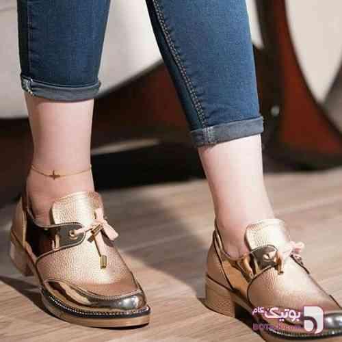 کفش اسپرت کلاسیک زنانه(جدید) طلایی كفش زنانه