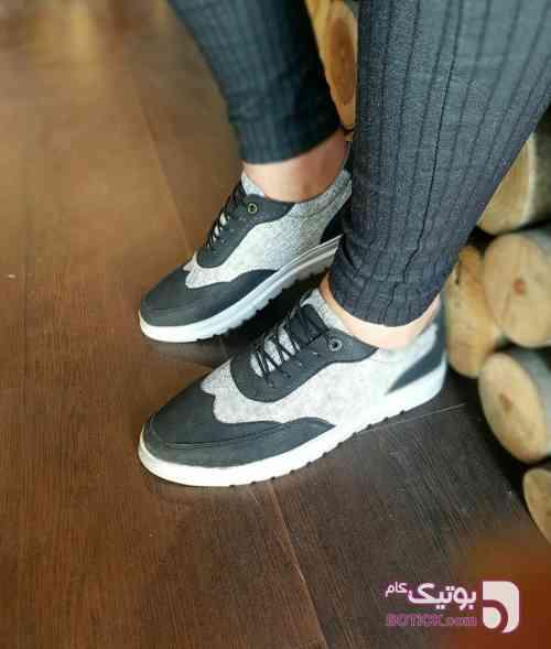 کفش کتونی طوسی كتانی زنانه