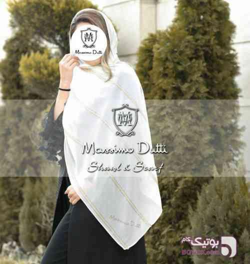 شال حریر مجلسی VIP ماسیمودوتی سفید شال و روسری