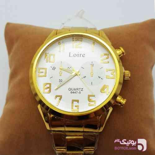 ساعت عقربهای مردانه Loire زرد ساعت