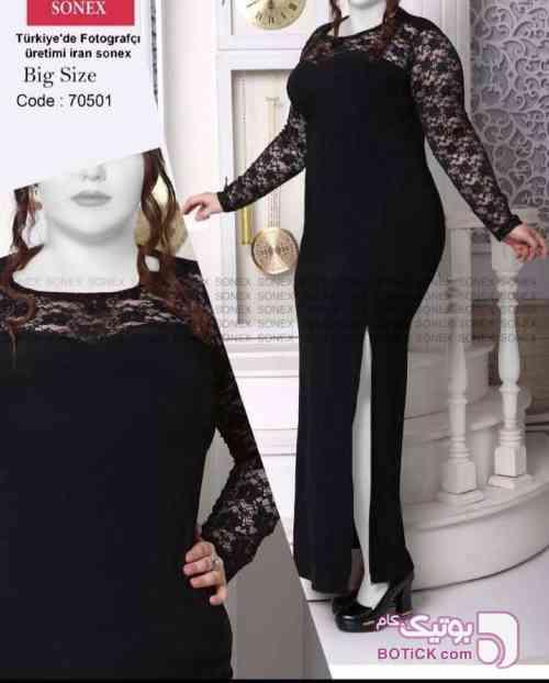لباس مجلسي سايز بزرگ مشکی لباس  مجلسی