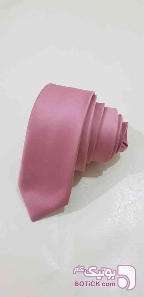 کراوات ساده گلبهی صورتی كراوات و پاپيون