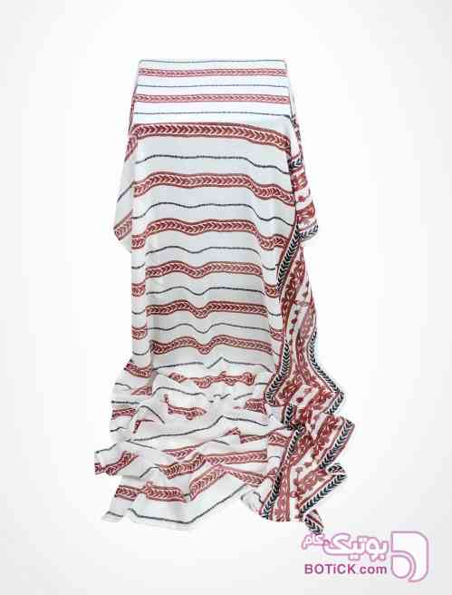 شال حریر شیفون سفید سفید شال و روسری