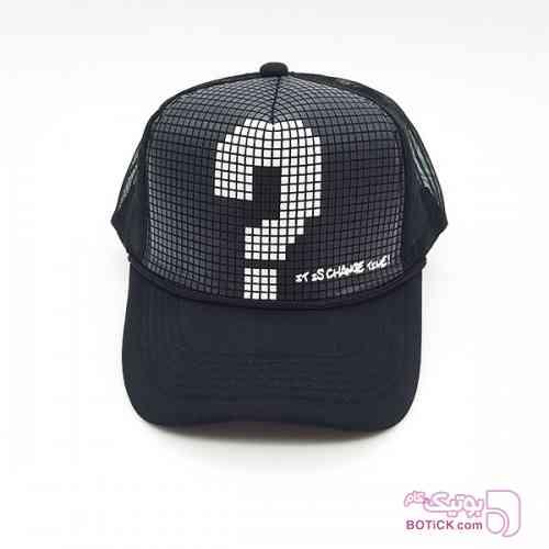 کلاه کپ علامت سوال مشکی کلاه