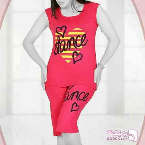 تاپ شلوارک قرمز لباس راحتی زنانه