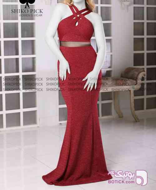 سارافن آنیتا آبی لباس  مجلسی