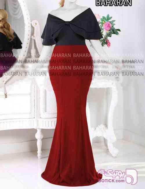 سارافن مرجان زرشکی لباس  مجلسی
