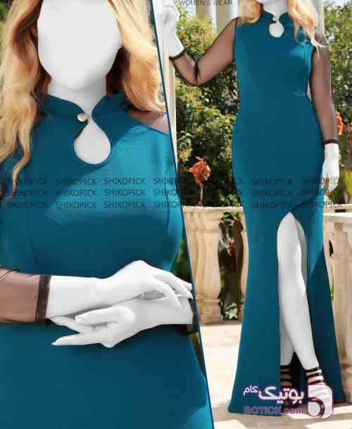 پگاه آبی لباس  مجلسی